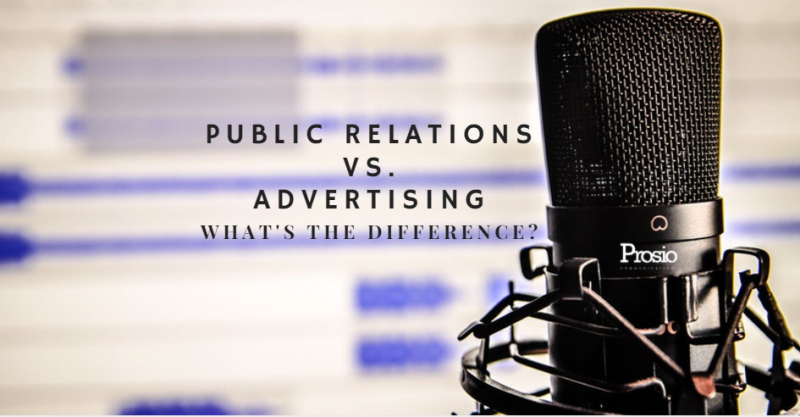 Public Relations v Advertising